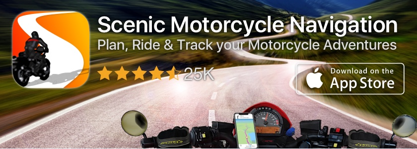 Scenic Motorcycle Navigation