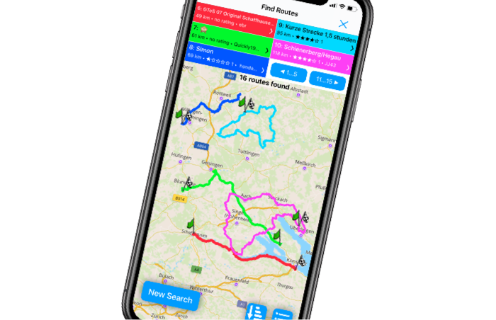 Scenic Motorcycle Navigation App - Discover